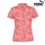 [PUMA GOLF]여성 캐주얼 패턴 카라 티셔츠(923346-02)