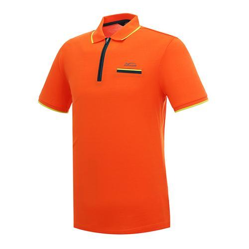 [팬텀]남성 배색라인 포인트 반집업 반팔 티셔츠 21142TO018_OR