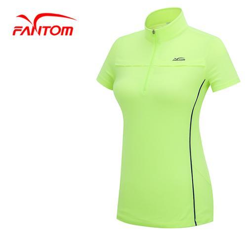 [팬텀]여성 배색라인 포인트 반집업 티셔츠 22142TH065_GN