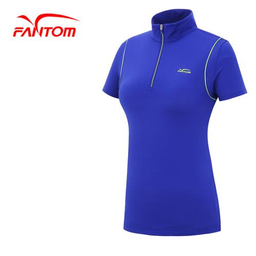 [팬텀]여성 포인트 라인 하이넥 반팔 티셔츠 22142TH070_VO