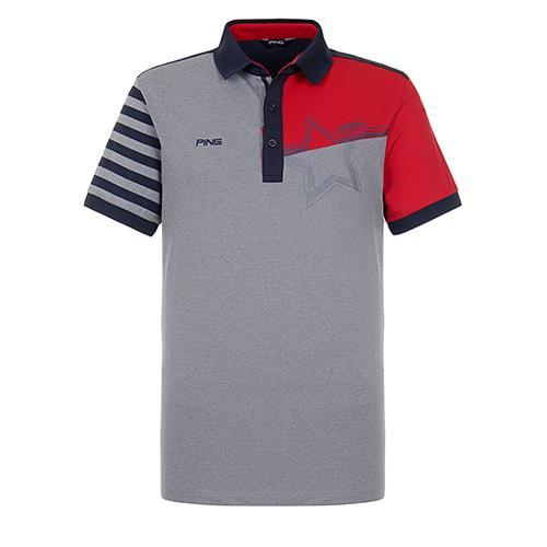 [핑]남성 컬러블럭 반팔 카라 티셔츠 11292TO911_MG