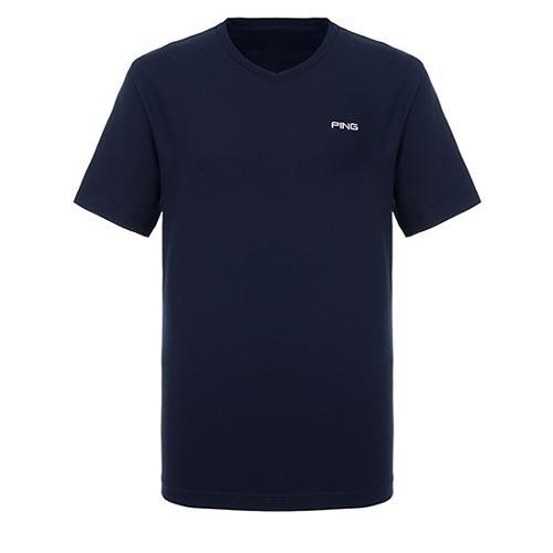[핑]남성 솔리드 브이넥 반팔 티셔츠 11292TR921_NA