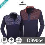 [JEAN PIERRE] 쟌피엘 트라이앵글 패턴 하프집업 긴팔티셔츠 Model No_DB9064