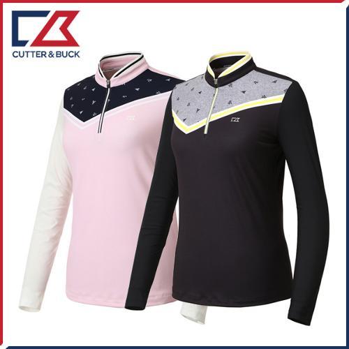 커터앤벅 여성 스판 긴팔티셔츠 - PB-11-191-201-10