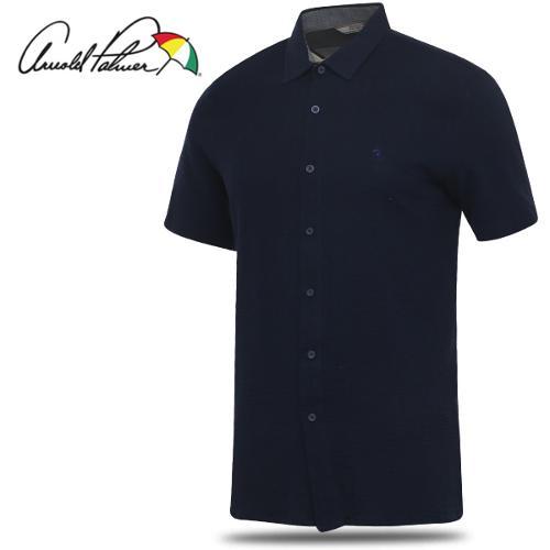 [아놀드파마] 순면 소매 패턴 남성 반팔 캐쥬얼 셔츠/골프웨어_244413