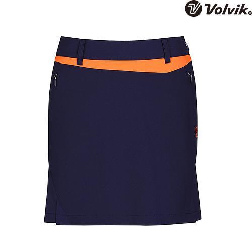 [볼빅브이닷] 여성 골프 배색 포인트 큐롯 VLCUH473_NA