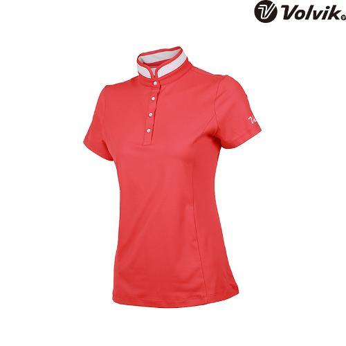 [볼빅브이닷] 여성 골프 에리변형 기본 반팔 티셔츠 VLTSH380_CO