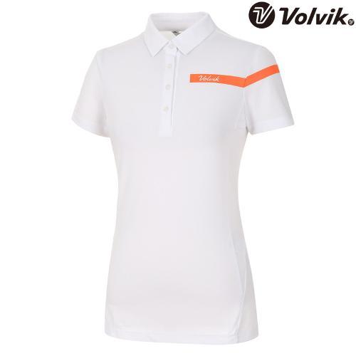 [볼빅브이닷] 여성 골프 반팔 티셔츠 VLTSH475_WH