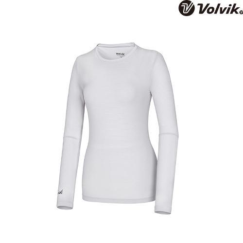 [볼빅브이닷] 여성 핀스트라이프 라운드 이너 티셔츠 VLTSH486_LG