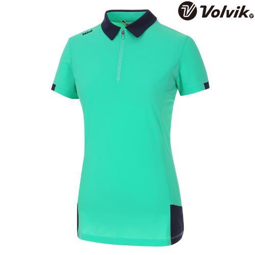 [볼빅브이닷] 여성 골프 매쉬 패치 포인트 반팔 티셔츠 VLTSH491_MT