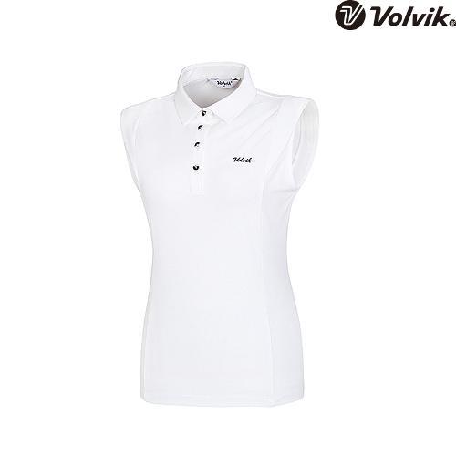 [볼빅브이닷] 여성 골프 솔리드 민소매 변형 티셔츠 VLTSH559_WH