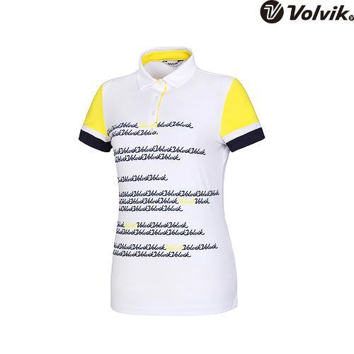 [볼빅브이닷] 여성 골프 플로잉볼빅 반팔 티셔츠 VLTSH561_LY