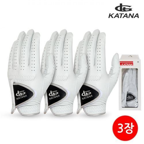 [카타나골프] KATANA 남성 골프장갑 (양피/1팩 3장)