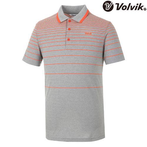 [볼빅브이닷] 남성 골프 잔스트라이프 반팔 티셔츠 VMTSH302_OR