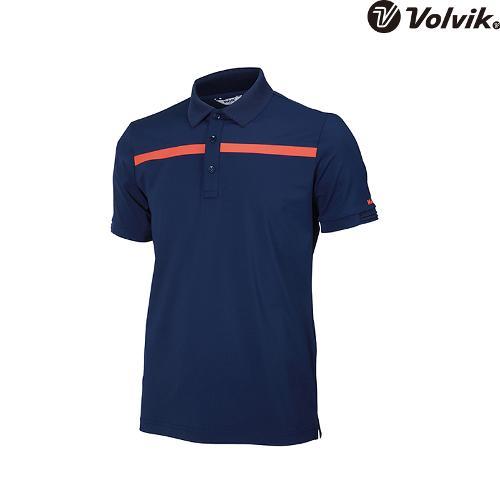 [볼빅브이닷] 남성 골프 가슴 절개 포인트 반팔 티셔츠 VMTSH305_NA