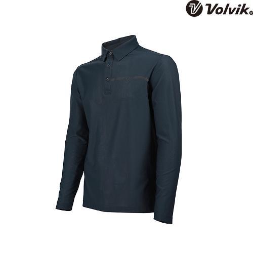 [볼빅브이닷] 남성 골프 솔리드 원포인트 긴팔 티셔츠 VMTSH322_CG