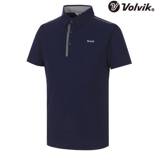 [볼빅브이닷] 남성 솔리드 웰딩포인트 반팔 티셔츠 VMTSH330_NA