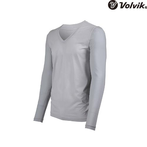 [볼빅브이닷] 남성 냉감소매 브이넥 이너 티셔츠 VMTSH345_LG