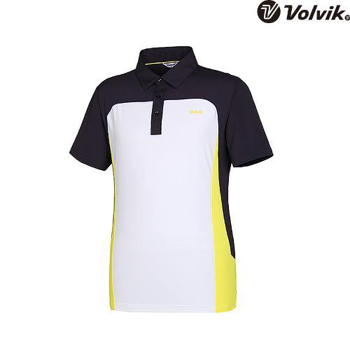 [볼빅브이닷] 남성 골프 칼라 블럭킹 반팔 티셔츠 VMTSH505_CG