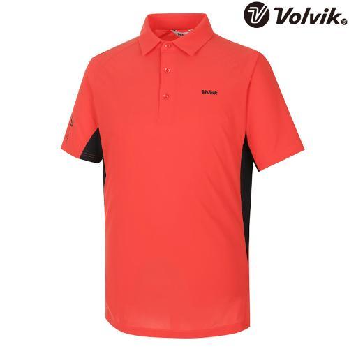 [볼빅브이닷] 남성 매쉬 배색 포인트 카라 반팔 티셔츠 VMTSH541_CO
