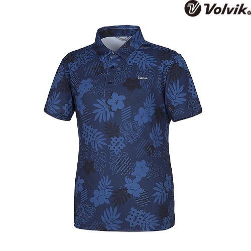 [볼빅브이닷] 남성 패턴 나염 카라 반팔 티셔츠 VMTSH603_NA