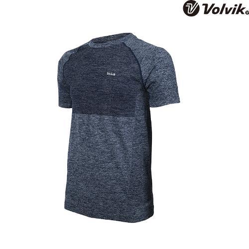 [볼빅브이닷]  남성 골프 심리스 라운드 반팔 티셔츠 VMTSH315_NA