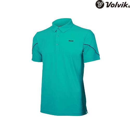 [볼빅브이닷]  남성 골프 매쉬 패치 반팔 티셔츠 VMTSH331_MT