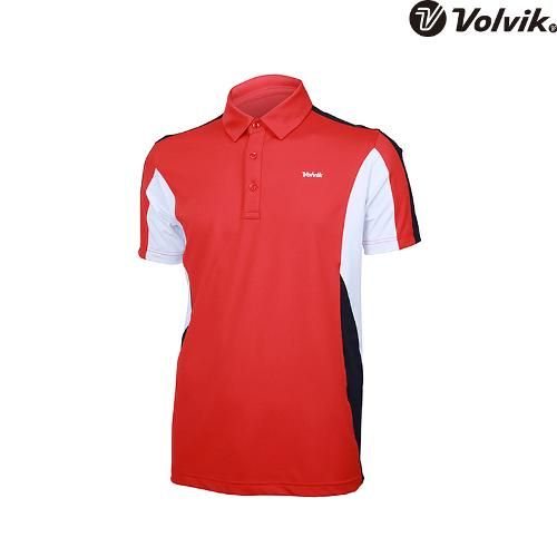 [볼빅브이닷]  남성 골프 컬러 배색 반팔 티셔츠 VMTSH332_CO