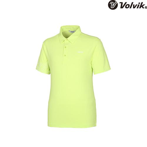 [볼빅브이닷]  남성 골프 등판 포인트 카라 반팔 티셔츠 VMTSH422_LE