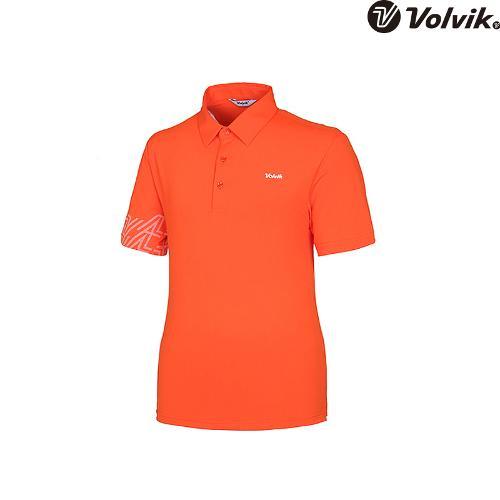 [볼빅브이닷]  남성 골프 등판 포인트 카라 반팔 티셔츠 VMTSH422_OR