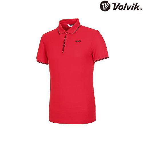 [볼빅브이닷] 남성 라인 배색 반팔 카라 티셔츠 VMTSJD94_RE