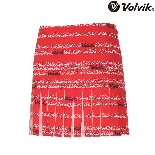 [볼빅브이닷] 여성 골프 플로잉볼빅 패턴 주름 큐롯 VLCUH553_RE