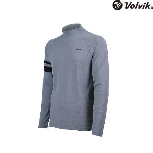 [볼빅브이닷] 남성 골프 소매 포인트 하이넥 긴팔 이너 티셔츠 VMTSH323_MG