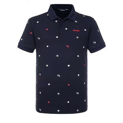[핑]남성 별 프린트 카라 티셔츠 11292TO933_NA