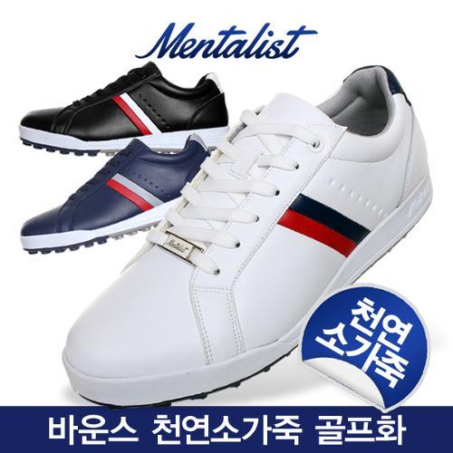 [2019년신제품]멘탈리스트 Bounce 바운스 천연소가죽 골프화-3종칼라