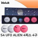 볼빅 S4 UFO ALIEN 4피스 골프볼 골프공 4구 볼마커