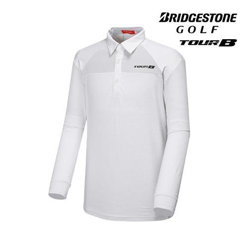 [브릿지스톤 골프] 남성 보더절개패턴 카라넥 티셔츠IGM03F-OW_GA