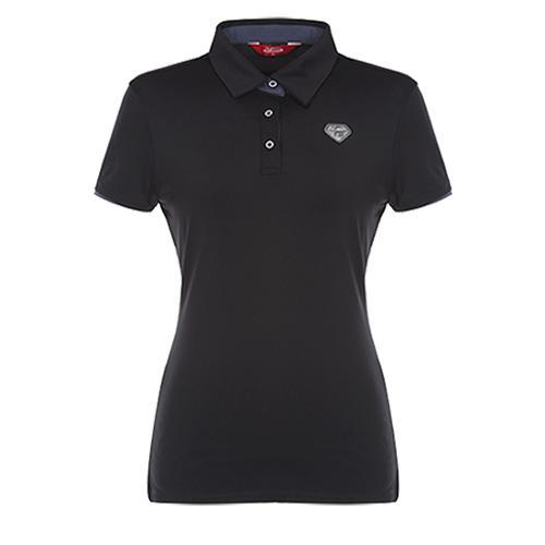 [팬텀]여성 스트레치 슬림 반팔 티셔츠 22272TO952_BK