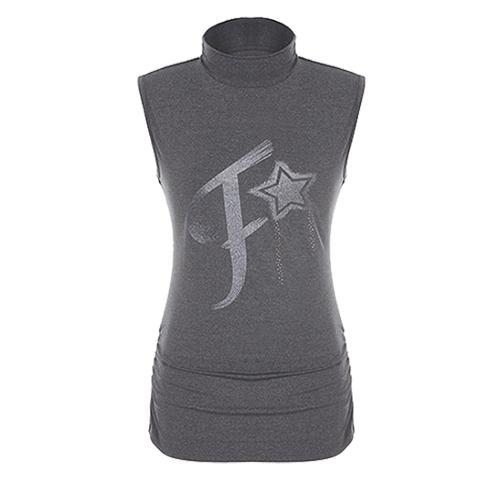 [팬텀]여성 하이넥 로고 슬리브스 민소매 티셔츠 22172TR151_GY