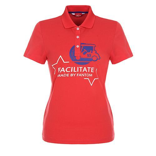 [팬텀]여성 캐주얼 프린트 카라 반팔 티셔츠 22172TO051_CO