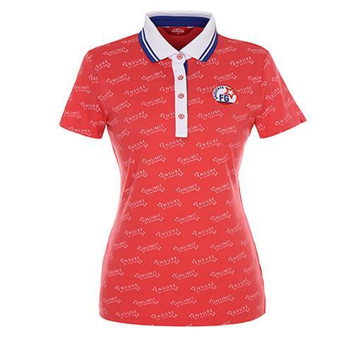 [팬텀]여성 스포티 프린트 배색 카라 티셔츠 22172TO088_CO