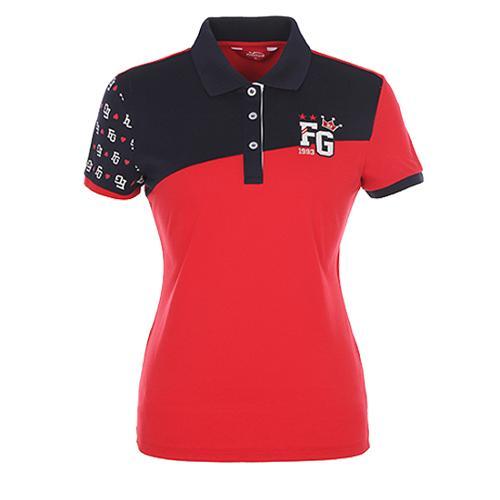 [팬텀]여성 스포티 컬러블럭 프린트 티셔츠 22172TO061_RE
