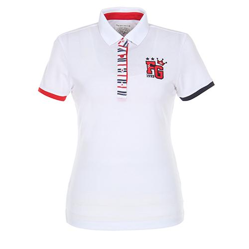 [팬텀]여성 스트라이프 포인트 카라 반팔 티셔츠 22172TO062_WH