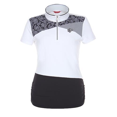 [팬텀]여성 하이넥 반팔 티셔츠 22172TH065_WH