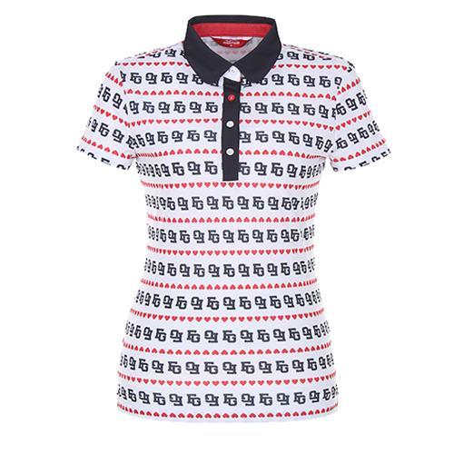 [팬텀]여성 프린트 카라 반팔 티셔츠 22172TO083_WH