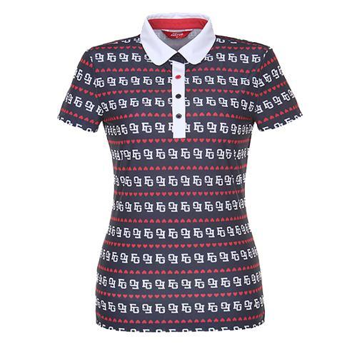 [팬텀]여성 프린트 카라 반팔 티셔츠 22172TO083_NA