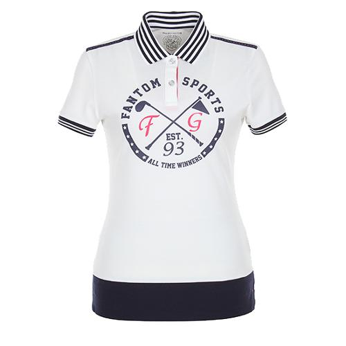 [팬텀]여성 배색 카라 반팔 티셔츠 22172TO097_IV