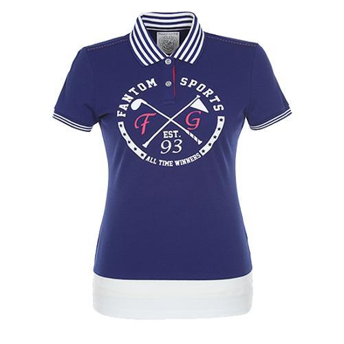 [팬텀]여성 배색 카라 반팔 티셔츠 22172TO097_BL