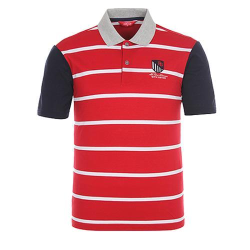 [팬텀]남성 컬러블록 스트라이프 카라 티셔츠 21172TO022_RE