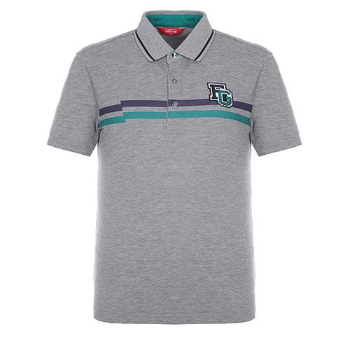 [팬텀]남성 배색 포인트 카라 반팔 티셔츠 21172TO009_GY